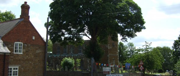 Picture of Tilton centre looking toward St Peters Church.